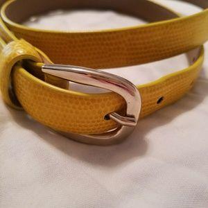 Banana Republic embossed yellow belt
